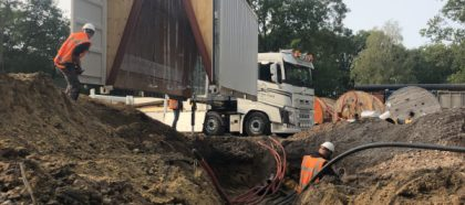 Lascontainers opgeleverd
