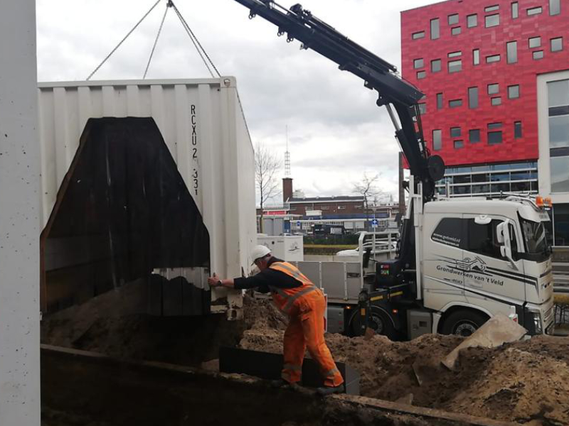Lascontainers in Amersfoort