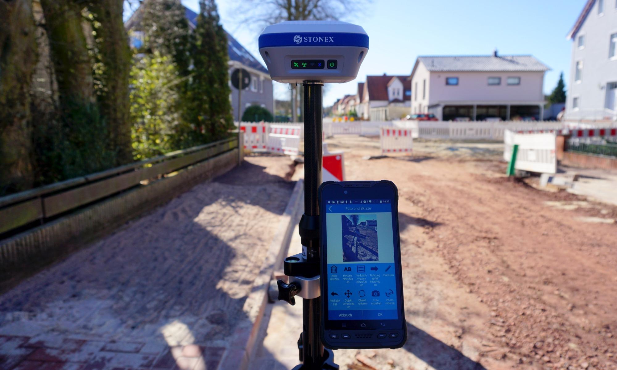 GPS systeem voor inmeten